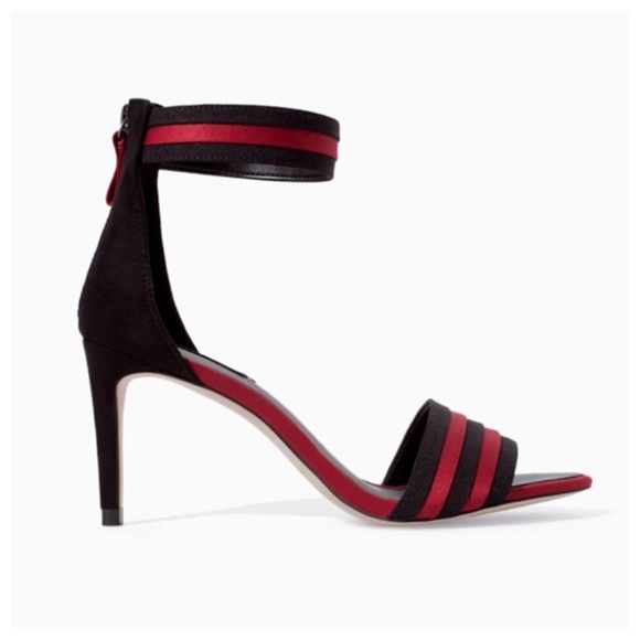 ZARA BASIC SIZE 40 / 10 RED AND BLACK HEELS